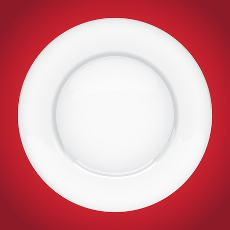 Isolated empty plate on white background Stock Vector - 17745038