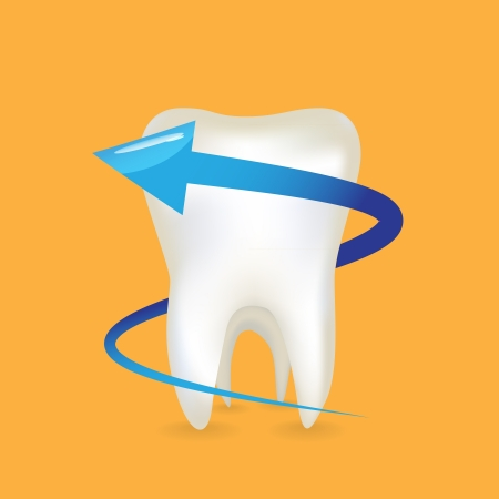 An arrow around the tooth - illustration Vector