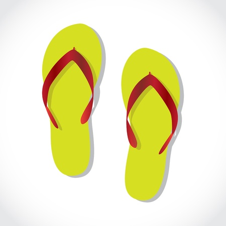 pair of beach sandals, illustration Vector