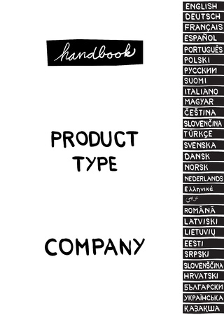 handbook: cover page of handbook for any type of device