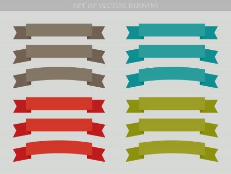 Set van ad linten - illustratie Vector Illustratie