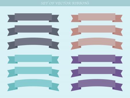 Set of  ad ribbons - illustration Stock Vector - 18003013