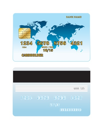 Credit card of the front and back side Stock Vector - 18402969