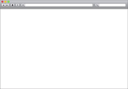 web browser: Blank window of internet browser, template illustration
