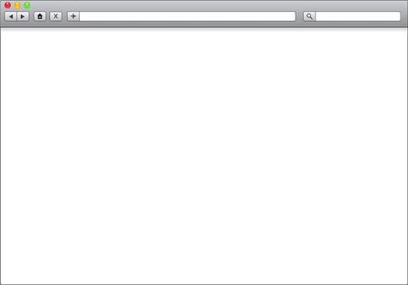 Puste okno przeglÄ…darki internetowej, ilustracji szablon