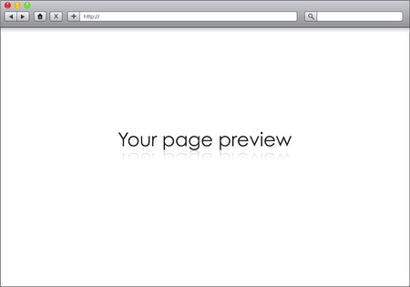 Blank window of internet browser, template illustration