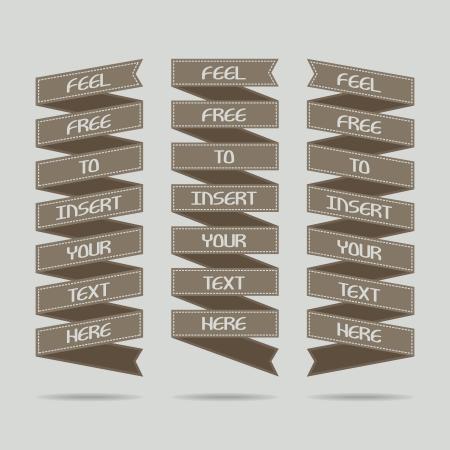 Set of ad ribbons - illustration Stock Vector - 18403085