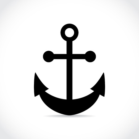 sea port: anchor on white background - illustration Illustration