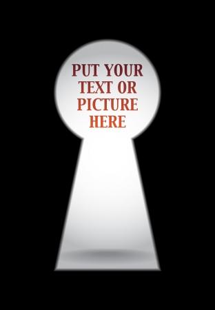 Lege sleutelgat klaar voor uw inhoud Vector Illustratie
