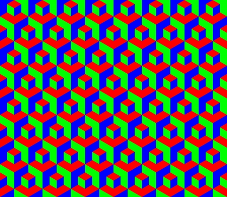dimensions: Seamless RGB cubes pattern - illustration