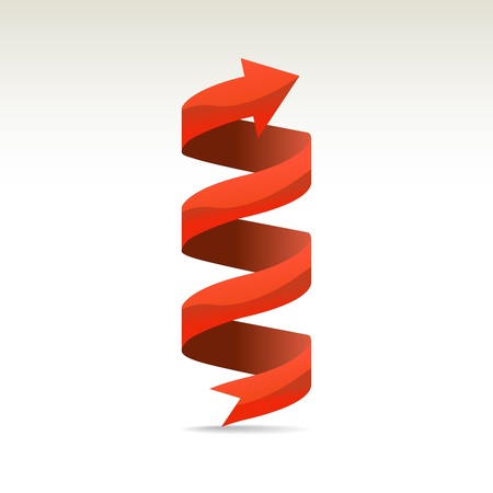 wrapped around: Ad ribbon, 360° wrapped around own axis, illustration