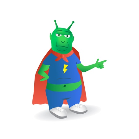 extraterrestrial: Extraterrestrial superhero character - illustration