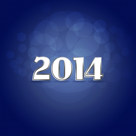 2014 new year tittle - illustration Vector