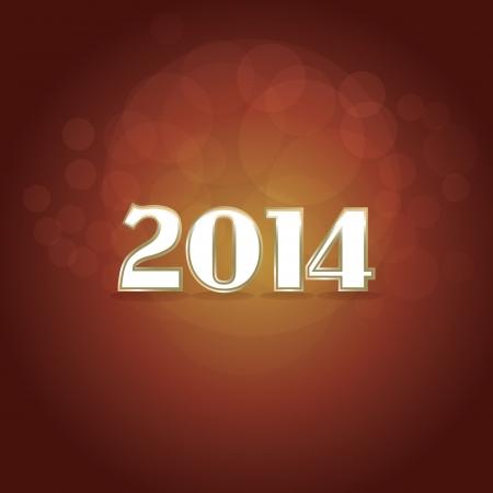 2014 new year tittle - illustration Vector