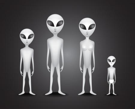 lifeform: Whole alien family - illustration