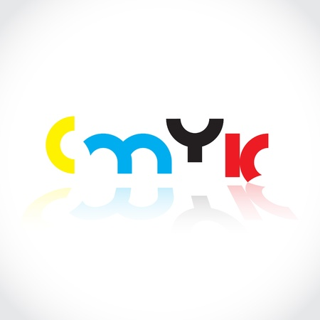 tittle: CMYK tittle, concept colorful illustration