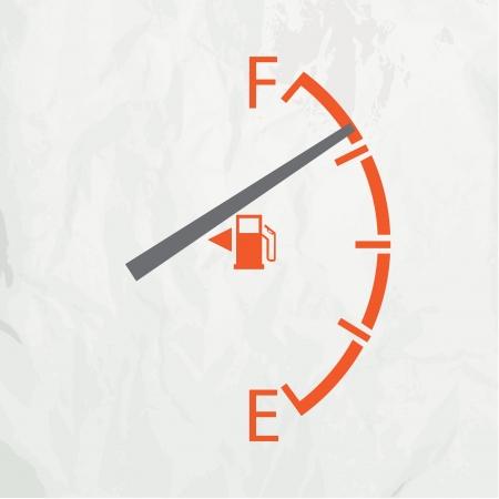 gagant: Gage de gaz isol� sur un fond blanc