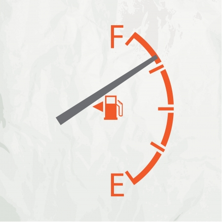 gas gauge: Gas gage isolated on a white background Illustration