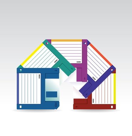 Set of HD diskettes - illustration Stock Vector - 20074928