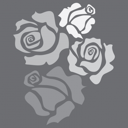 Four isolated roses - sketch illustration Stock Vector - 20074810