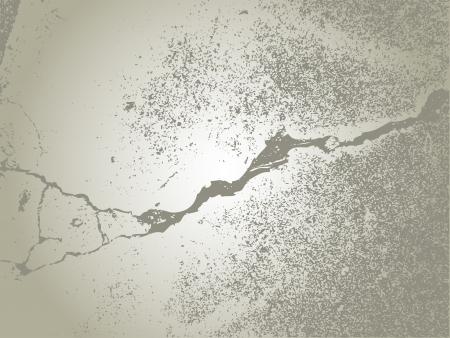 cracked concrete: Damaged cracked concrete surface - illustration