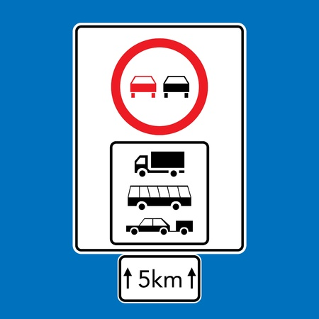 parking sign: set of road signs - isolated illustration Illustration