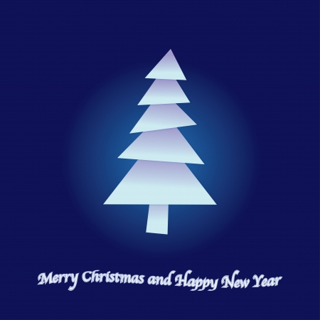 Merry christmas and happy new year postcard Vector