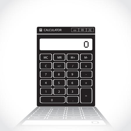 numpad: Symbol of classic analog calculator - illustration Illustration