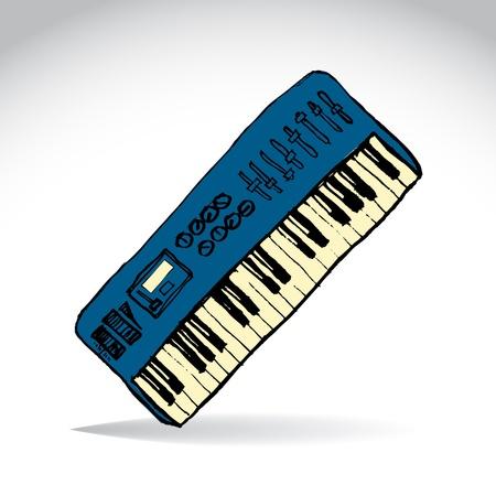 midi: Music midi master keyboard - illustration Illustration