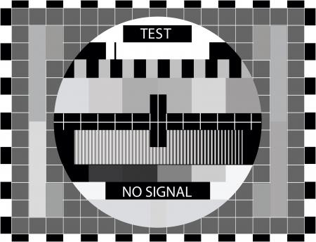 TV kleur test alleen in zwart-wit kleur - afbeelding