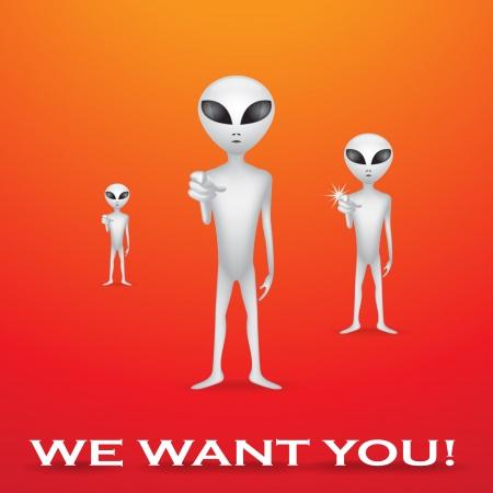 recruter: Nous vous le souhaitez, affiche de recrutement ?anger - illustration
