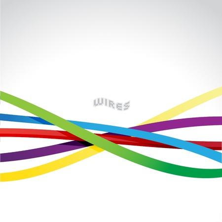 Interwoven Kunststoff Drähte Oder Kabel In Verschiedenen Farben ...