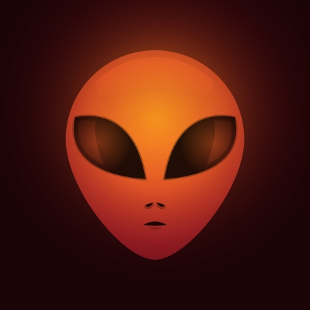 roswell: Extraterrestrial head from another world - illustration