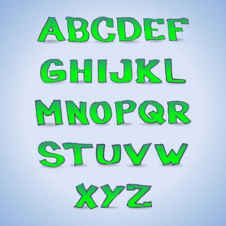 Hand drawn alphabet letters - illustration Vector