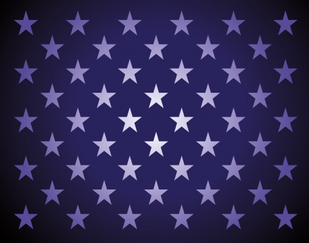 Star bakground in americans flag colors Ilustrace