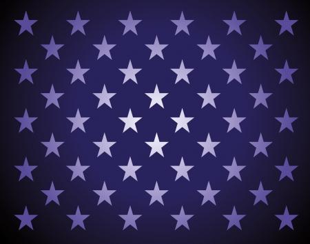 Ster bakground in amerikaanse vlag van kleuren Stock Illustratie