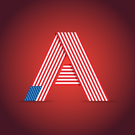 Abstract symbol of the USA - illustration Vector