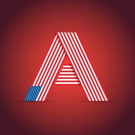 flags usa: Abstract symbol of the USA - illustration