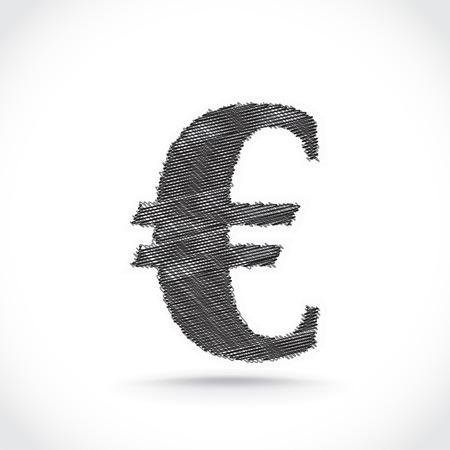 Euro symbol scribble  Vector  Stock Vector - 22619730