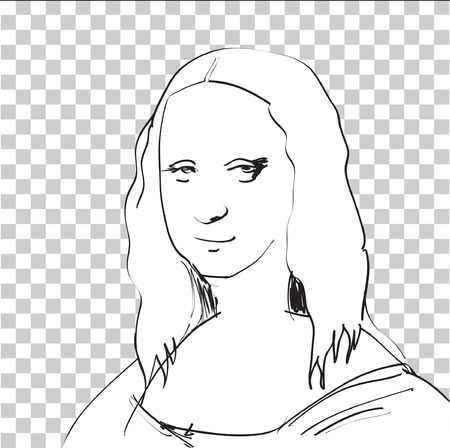 DTP の] ウィンドウで Mona リサ スケッチ