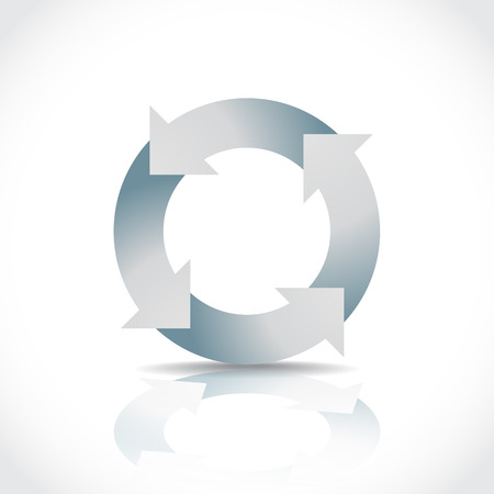 recycling center: Recycle symbol concept illustration