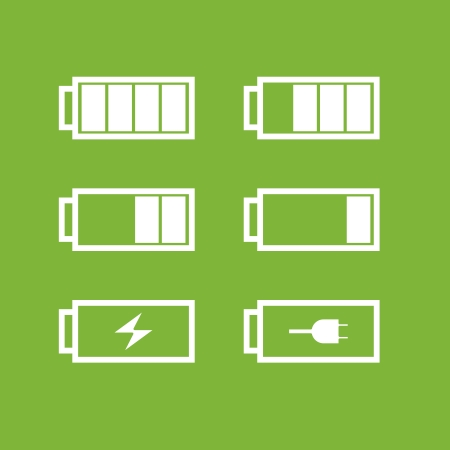 Set of battery icons Stock Vector - 24911851
