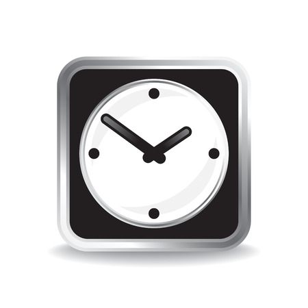 Infographic icon of classic analog clocks Vector