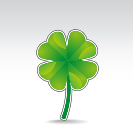 four objects: Four leaf clover symbol