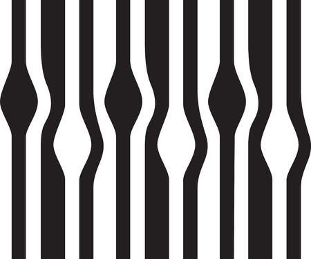 Abstract wavy seamless background, black and white  Vector