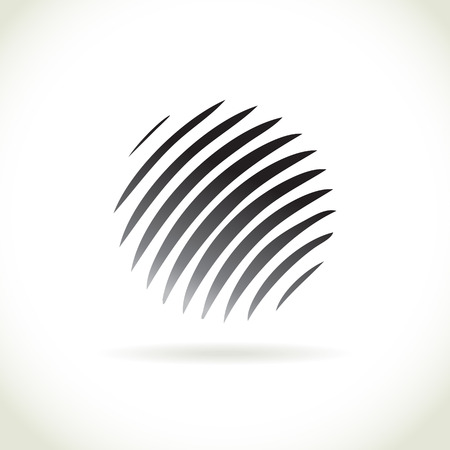 Abstract stripped sphere illustration Vector