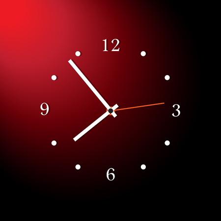 Modern analog clocks made in simple design - illustration Vector