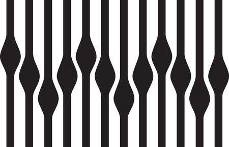 optical image: Abstract wavy seamless background, black and white
