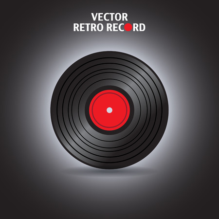 record player: Vinyl record in vector - illustration Illustration