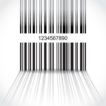 bar code: Abstract barcode background - illustration Illustration